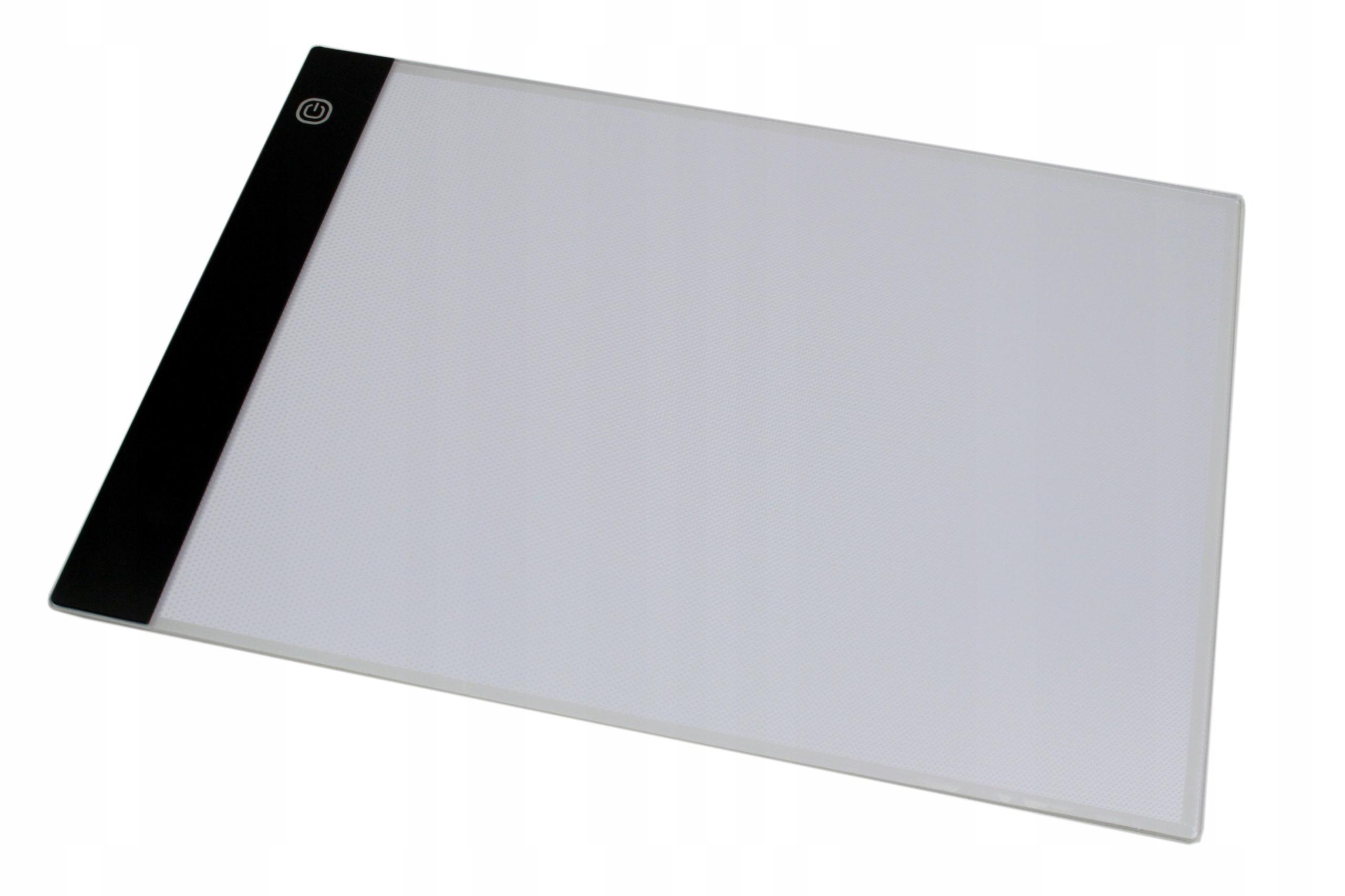 DESKA KREŚLARSKA LED A4 PODŚWIETLANA LIGHT PAD Z ZESTAWEM AKCESORIÓW - Akcesoria rtv agd