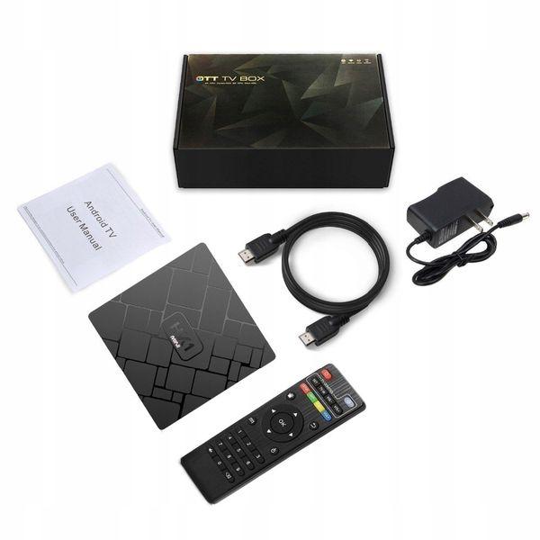 SMART TV BOX HK1 MINI ANDROID 8.1 Z PILOTEM I WIFI - Przystawki Smart TV