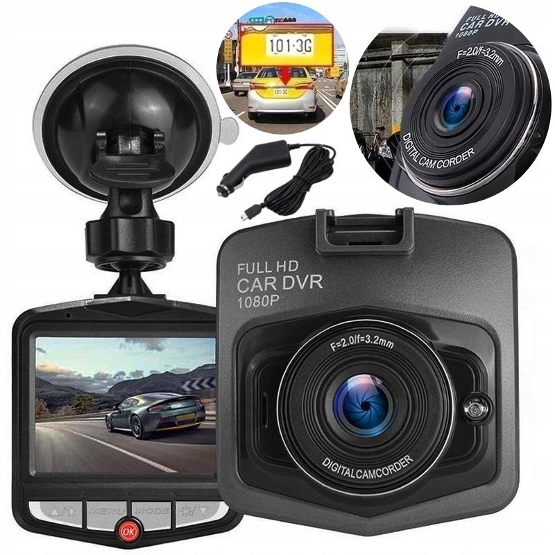 KAMERA SAMOCHODOWA FULL HD 1080P CZARNA WIDEOREJESTRATOR - Wideorejestratory