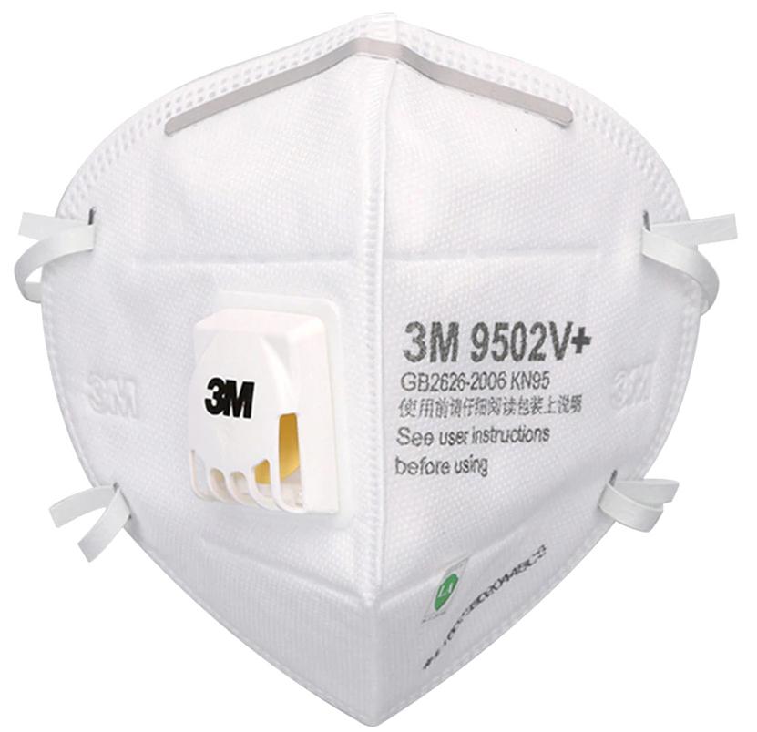 PÓŁMASKI 3M 9502V PLUS Z ZAWOREM FFP2 ZESTAW 10 SZTUK - Środki ochrony indywidualnej