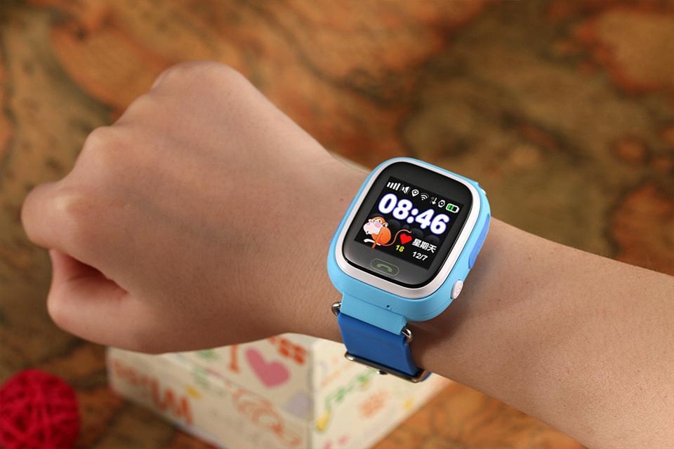 SMARTWATCH DLA DZIECI Q90 NIEBIESKI Z GPS - Smartwatche