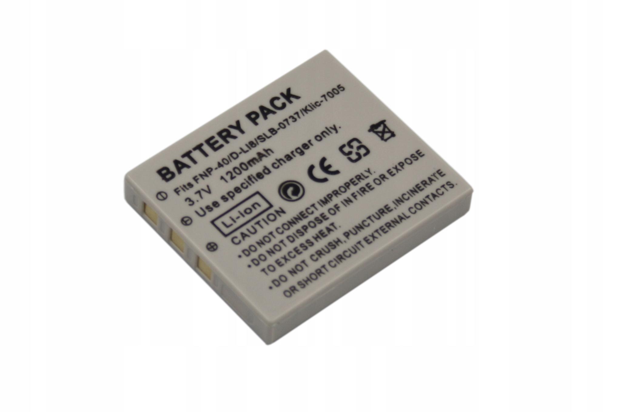 BATERIA AKUMULATOR FUJI NP-40 D-LI8 NP-1 SLB-0837 SLB-0737 - Baterie do aparatów cyfrowych