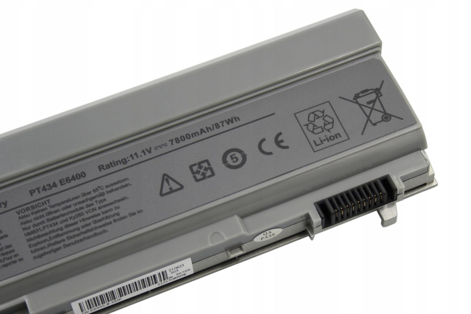 BATERIA DO LAPTOPA DELL LATITUDE E6400 E6500 E6410 E6510 AKUMULATOR - Baterie do laptopów