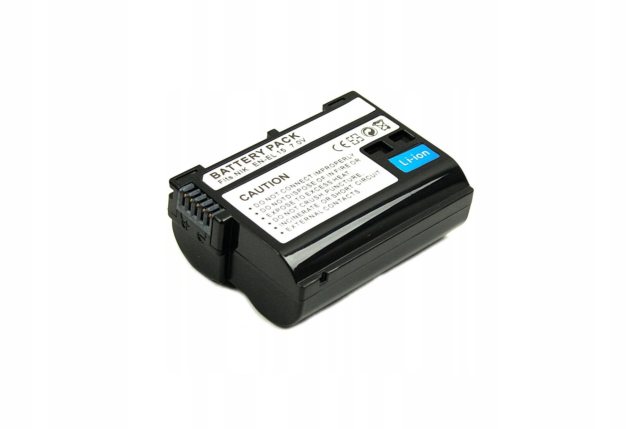 BATERIA AKUMULATOR NIKON D600 D800E D7000 D7100 EN-EL15 - Baterie do aparatów cyfrowych