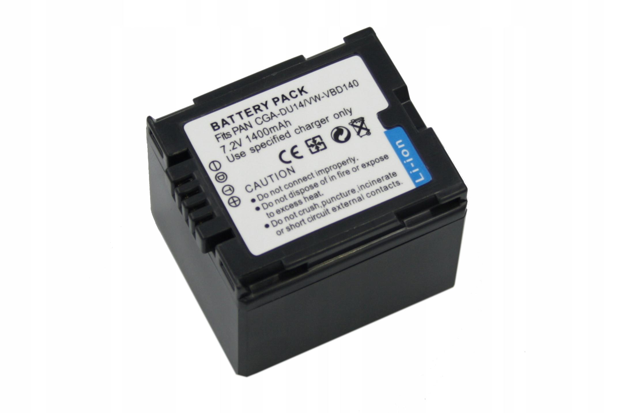 BATERIA AKUMULATOR PANASONIC CGA-DU21 CGA-DU06 CGR-DU06 - Baterie do aparatów cyfrowych