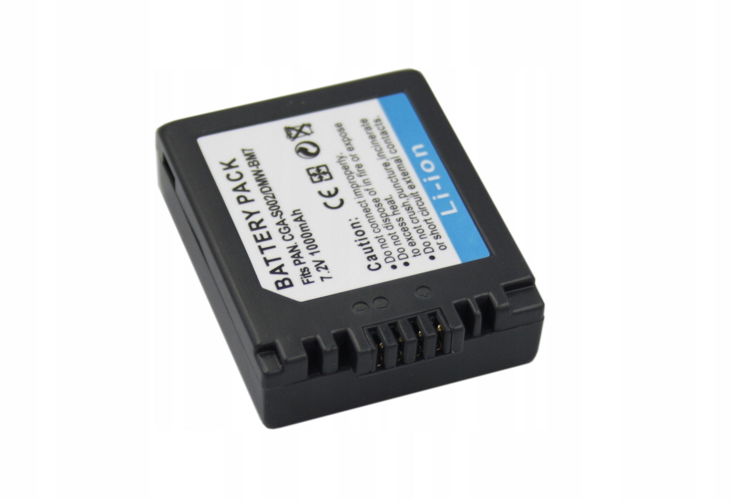 BATERIA AKUMULATOR PANASONIC LUMIX DMC-FZ2 DMC-FZ3 DMC-FZ20 - Baterie do aparatów cyfrowych