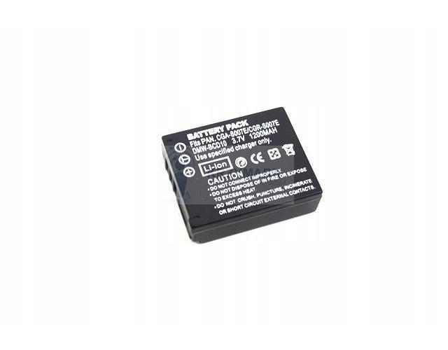 BATERIA AKUMULATOR PANASONIC LUMIX CGA-S007E DMC-TZ3 DMC-TZ5 - Baterie do aparatów cyfrowych