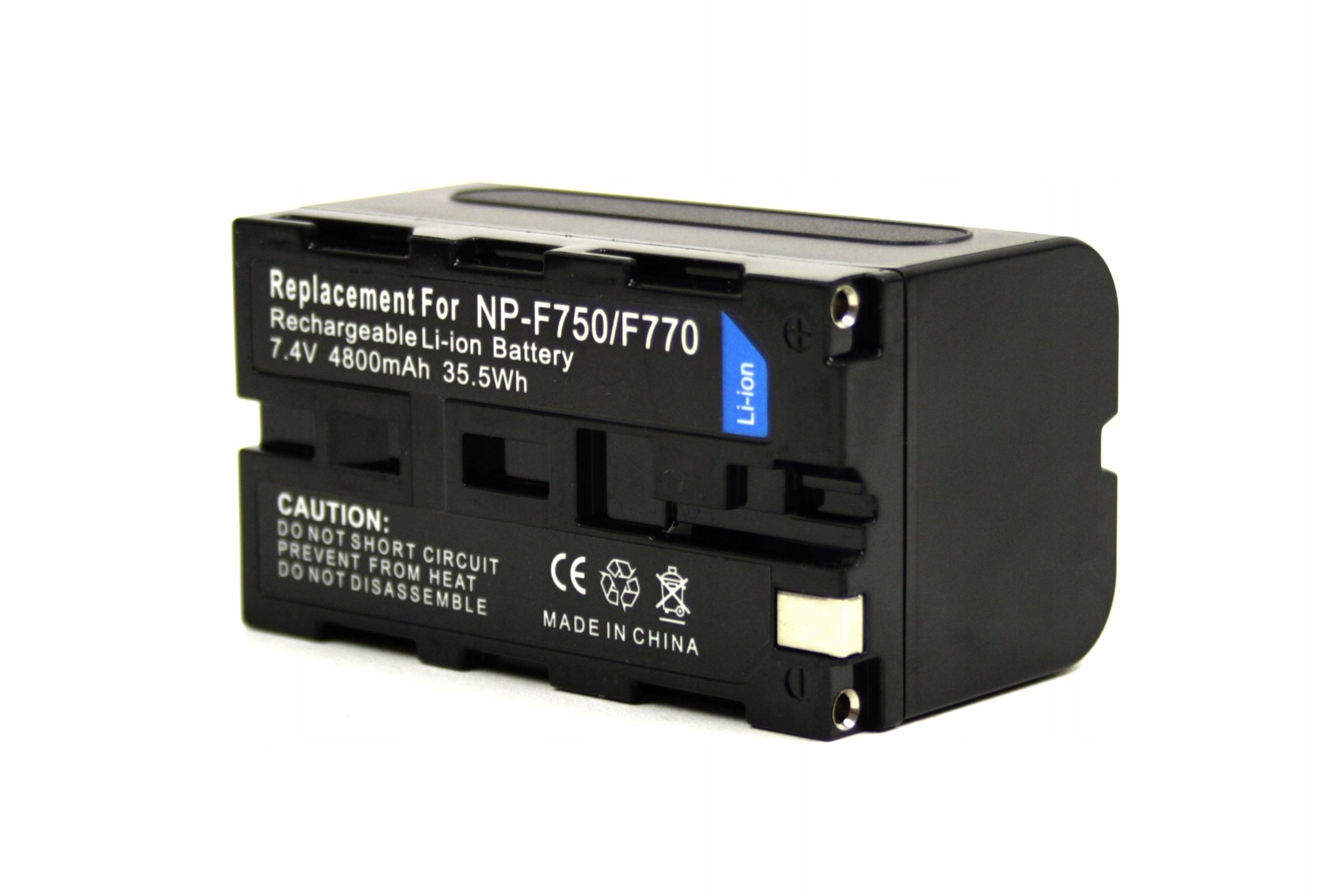 BATERIA AKUMULATOR SONY NP-F550 NP-F750 NP-F530 - Baterie do aparatów cyfrowych