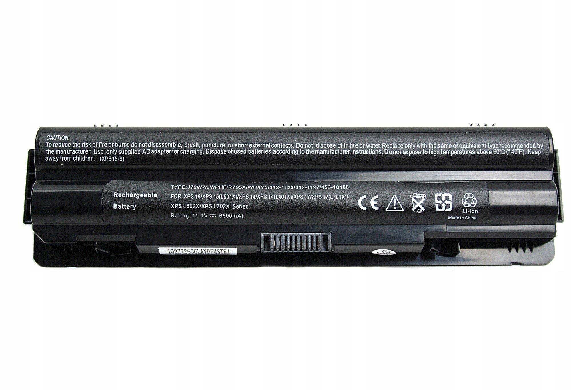 BATERIA AKUMULATOR DELL XPS 14 15 17 L501X L502X L702X - Baterie do laptopów