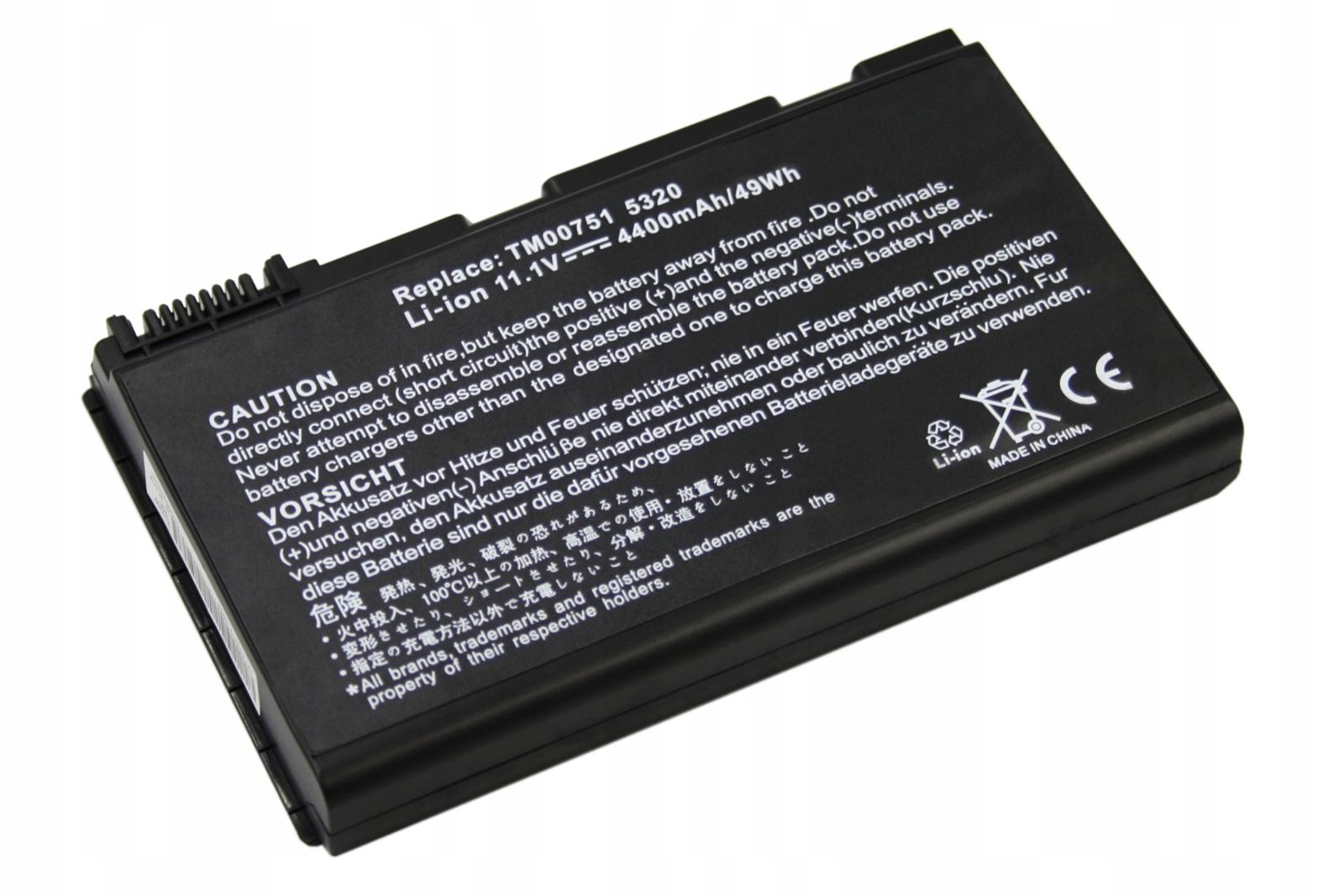 BATERIA AKUMULATOR ACER EXTENSA 5220 5230E 5620 5620Z GRAPE32 - Baterie do laptopów