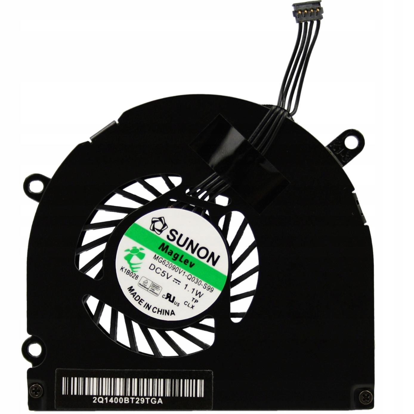 WENTYLATOR CHŁODZENIE WIATRAK APPLE MACBOOK PRO A1286 15 SUNON - Wentylatory i radiatory