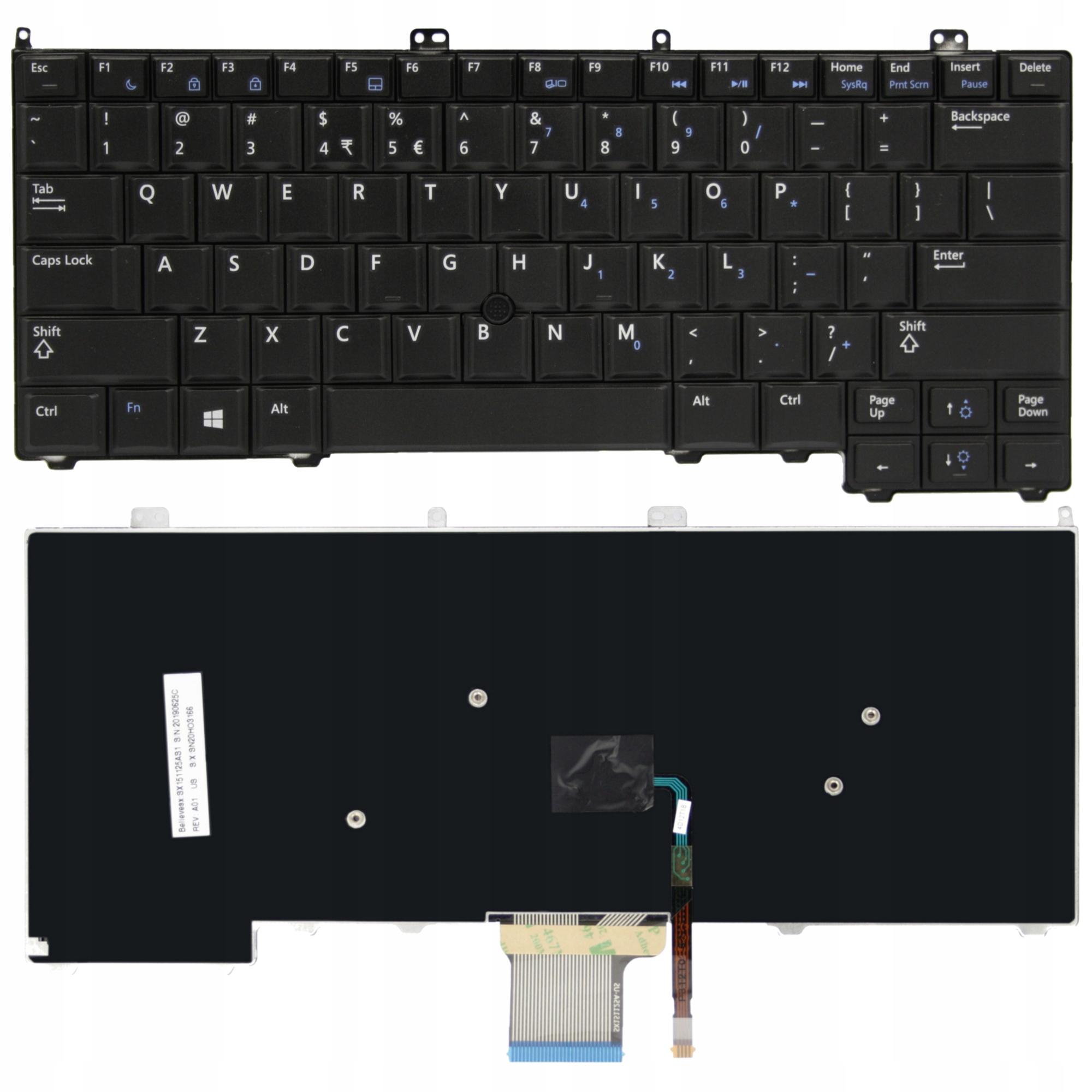 KLAWIATURA DELL E7440 E7240 E7420 - Klawiatury do laptopów