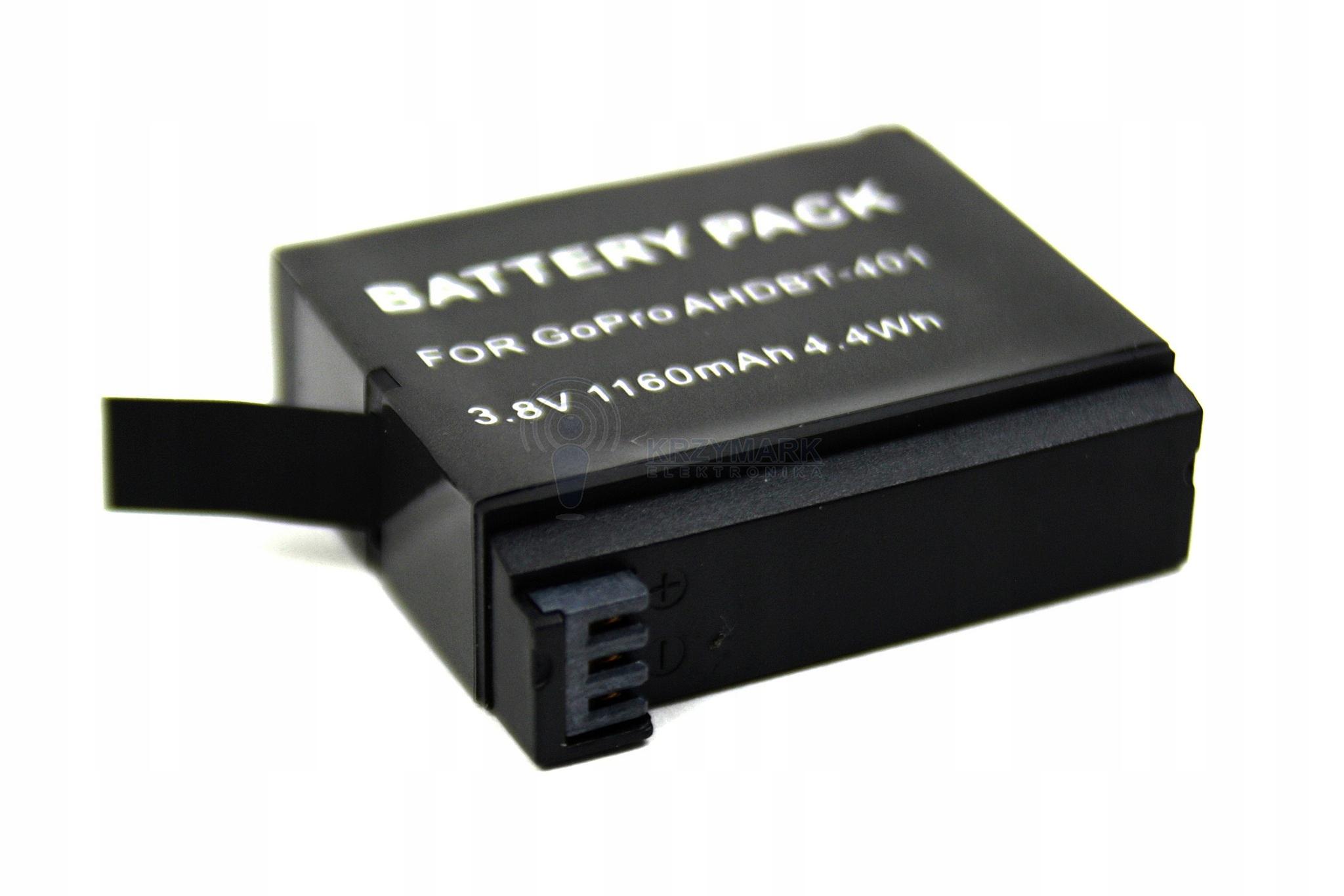 BATERIA AKUMULATOR AHDBT-401 GOPRO GO PRO HERO 4 - Baterie do aparatów cyfrowych