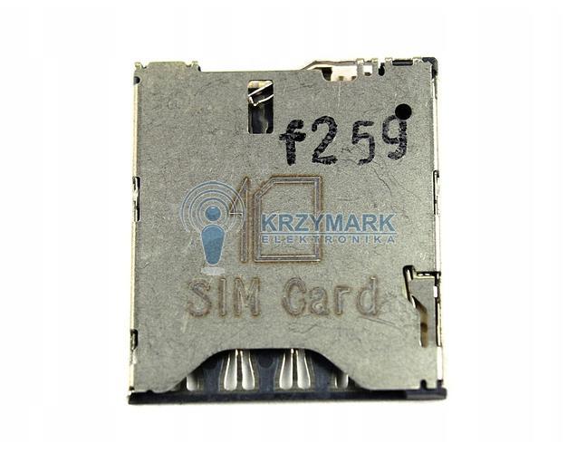 GNIAZDO CZYTNIK ZŁĄCZE KARTY SIM HTC 8S A620E - Uchwyty karty SIM do telefonów