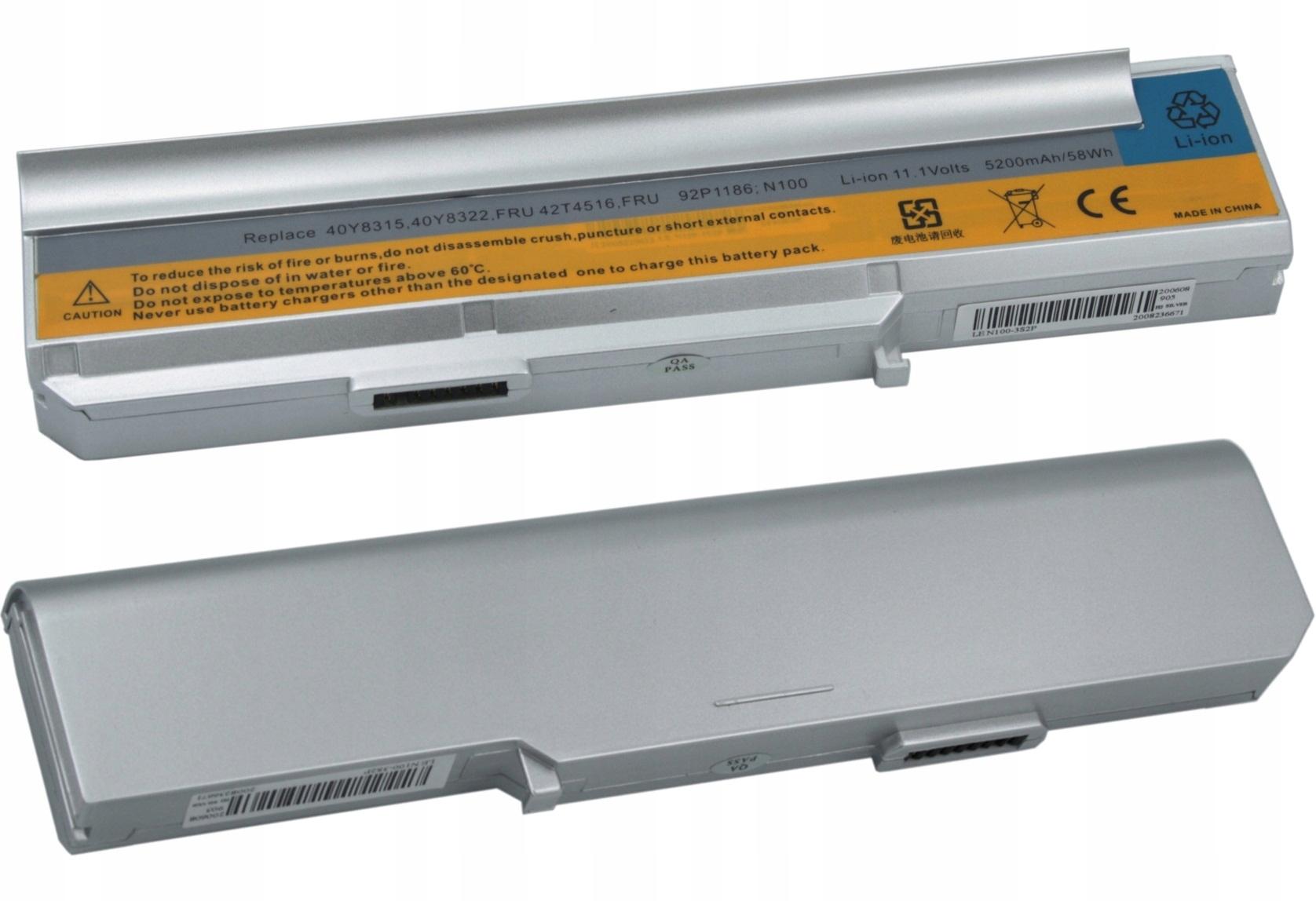 BATERIA AKUMULATOR IBM LENOVO 3000 N100 N200 C200 42T5212 - Baterie do laptopów