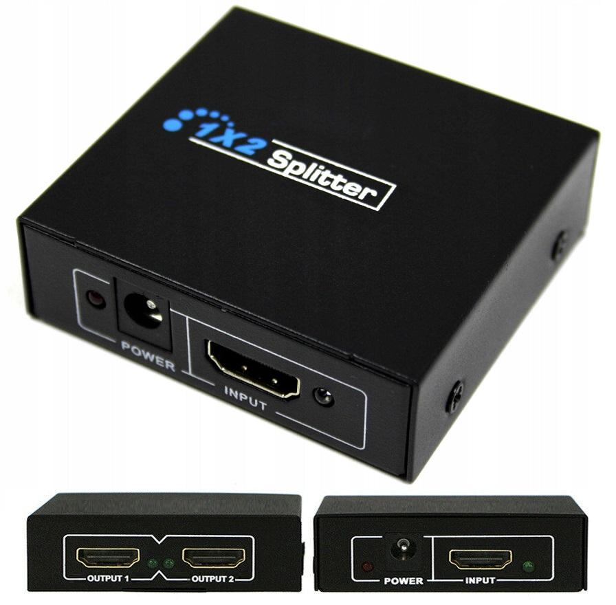 ROZDZIELACZ HDMI SPLITTER ROZGAŁĘŹNIK SWITCH - Kable i USB adaptery