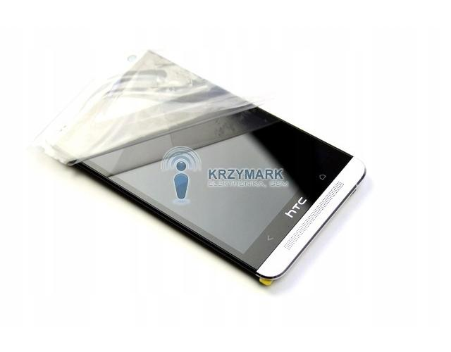 WYŚWIETLACZ Z DIGITIZEREM HTC ONE 801E 801N 801C 801S HTC M7 Z RAMKĄ BIAŁY - Wyświetlacze z digitizerami do telefonów