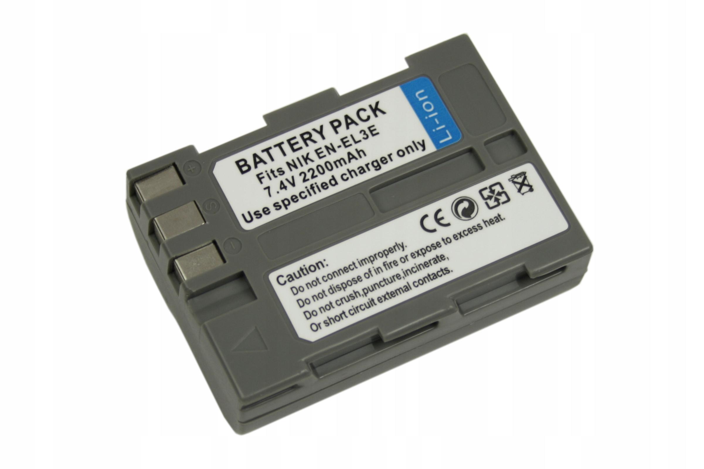 BATERIA AKUMULATOR NIKON EN-EL3E D700 D300S D300 D90 D80 - Baterie do aparatów cyfrowych