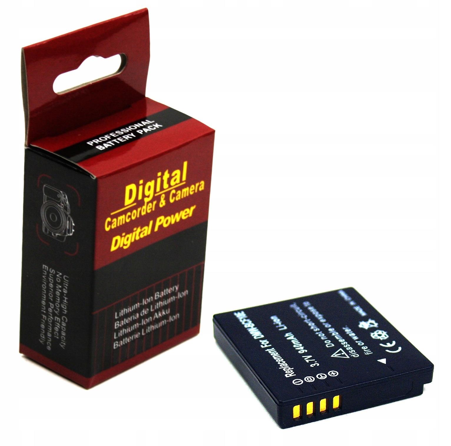 BATERIA AKUMULATOR PANASONIC DMW-BCF10E CGA-S009 S106C FX60 - Baterie do aparatów cyfrowych