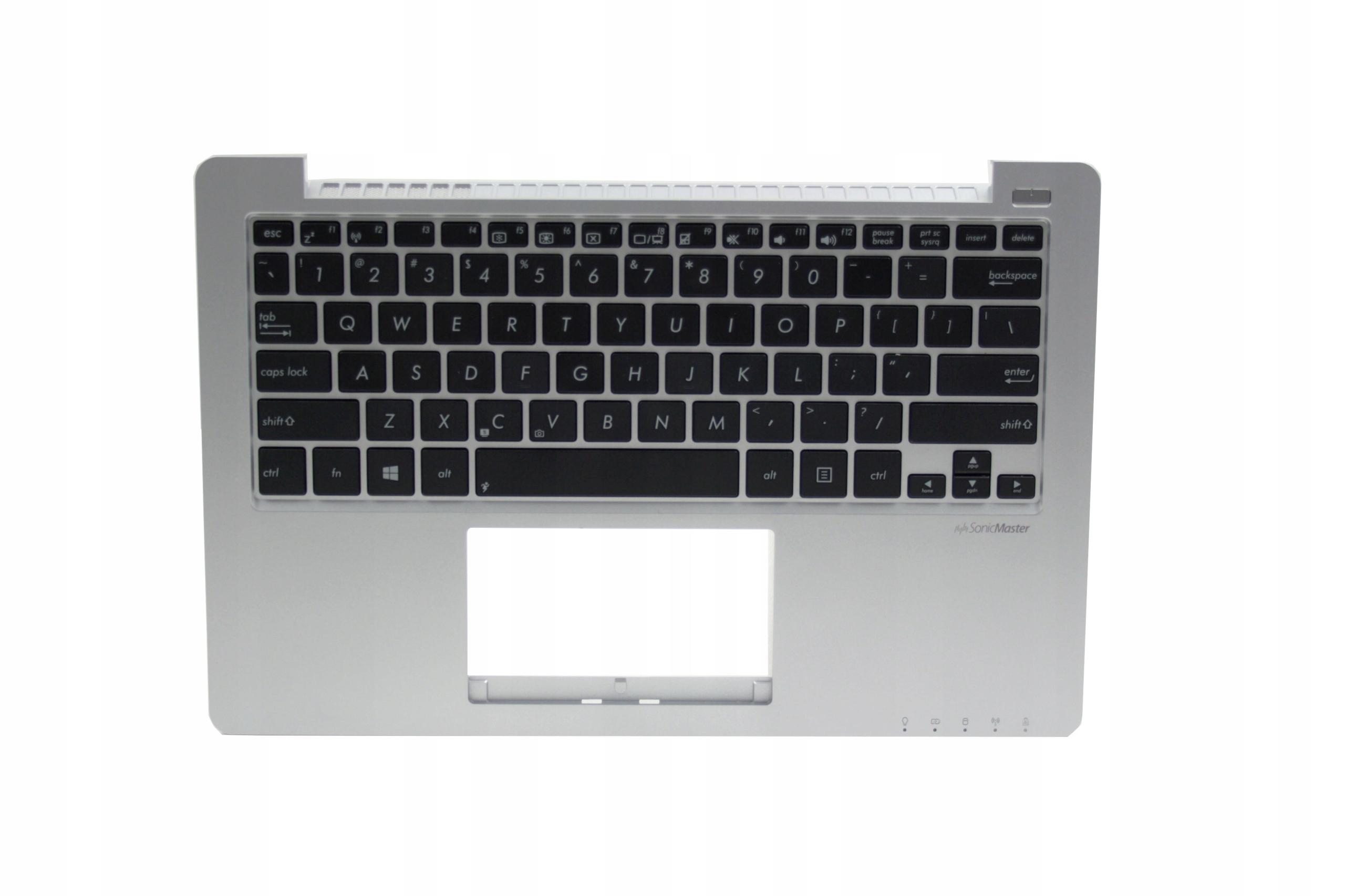 KLAWIATURA TOPCASE PALMREST OBUDOWA GÓRNA ASUS X201 X201E X201S X202 - Klawiatury do laptopów