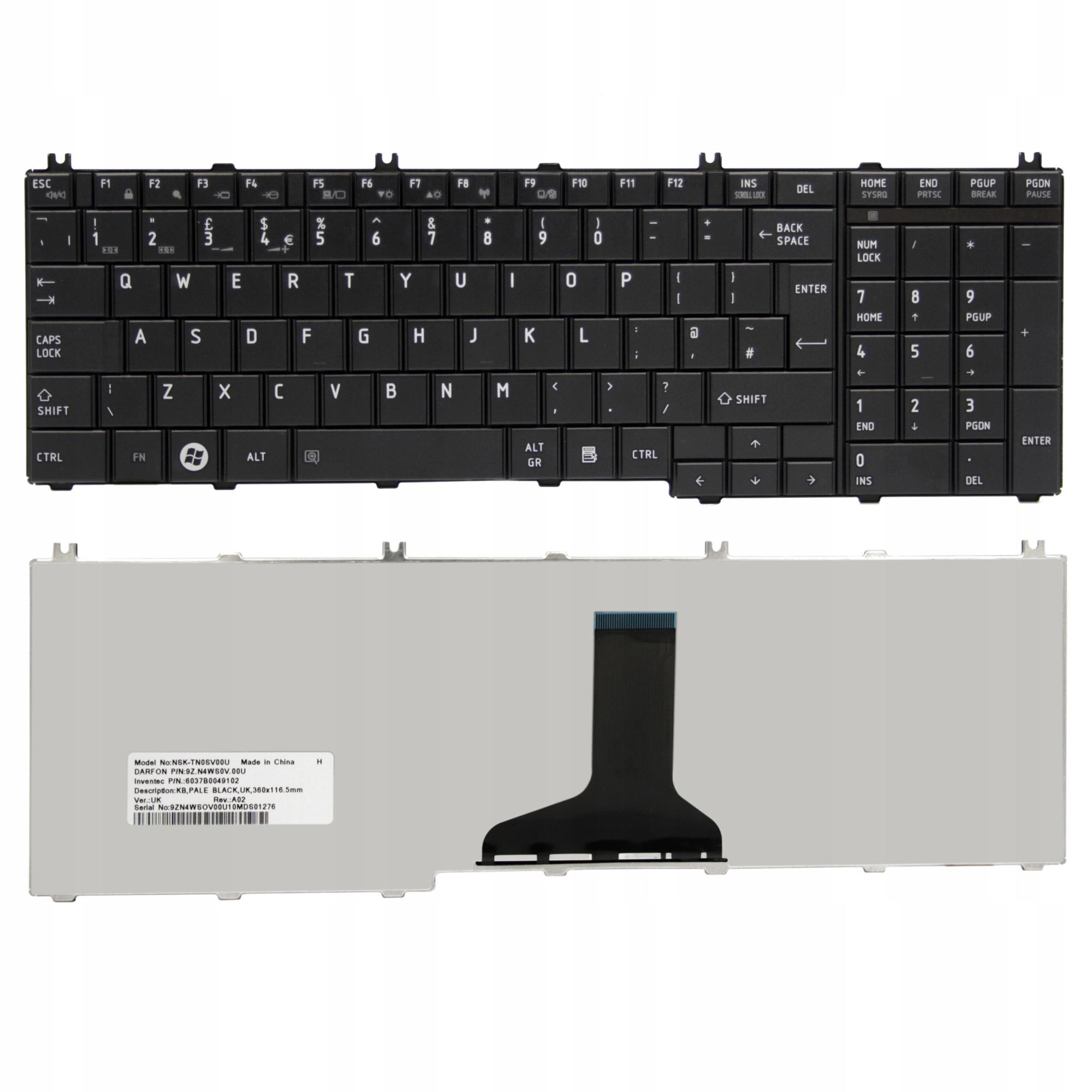 KLAWIATURA TOSHIBA SATELLITE L675 L750D - Klawiatury do laptopów