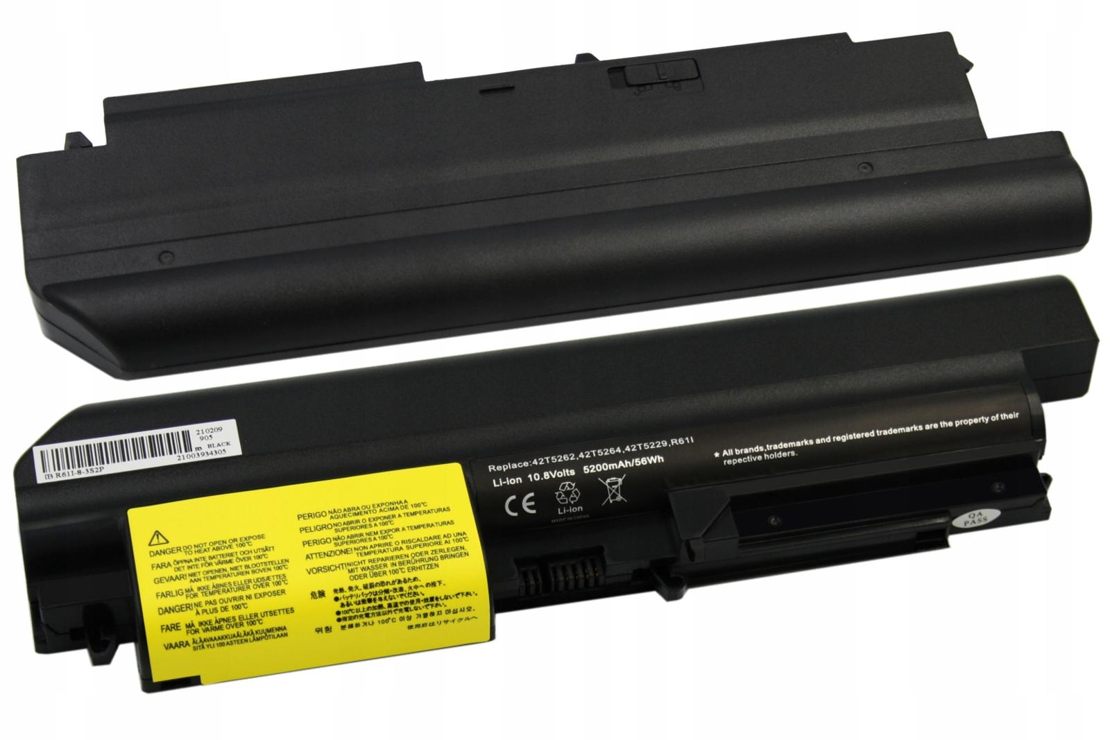 BATERIA AKUMULATOR LENOVO IBM T61P R61I T400 R400 42T5225 - Baterie do laptopów
