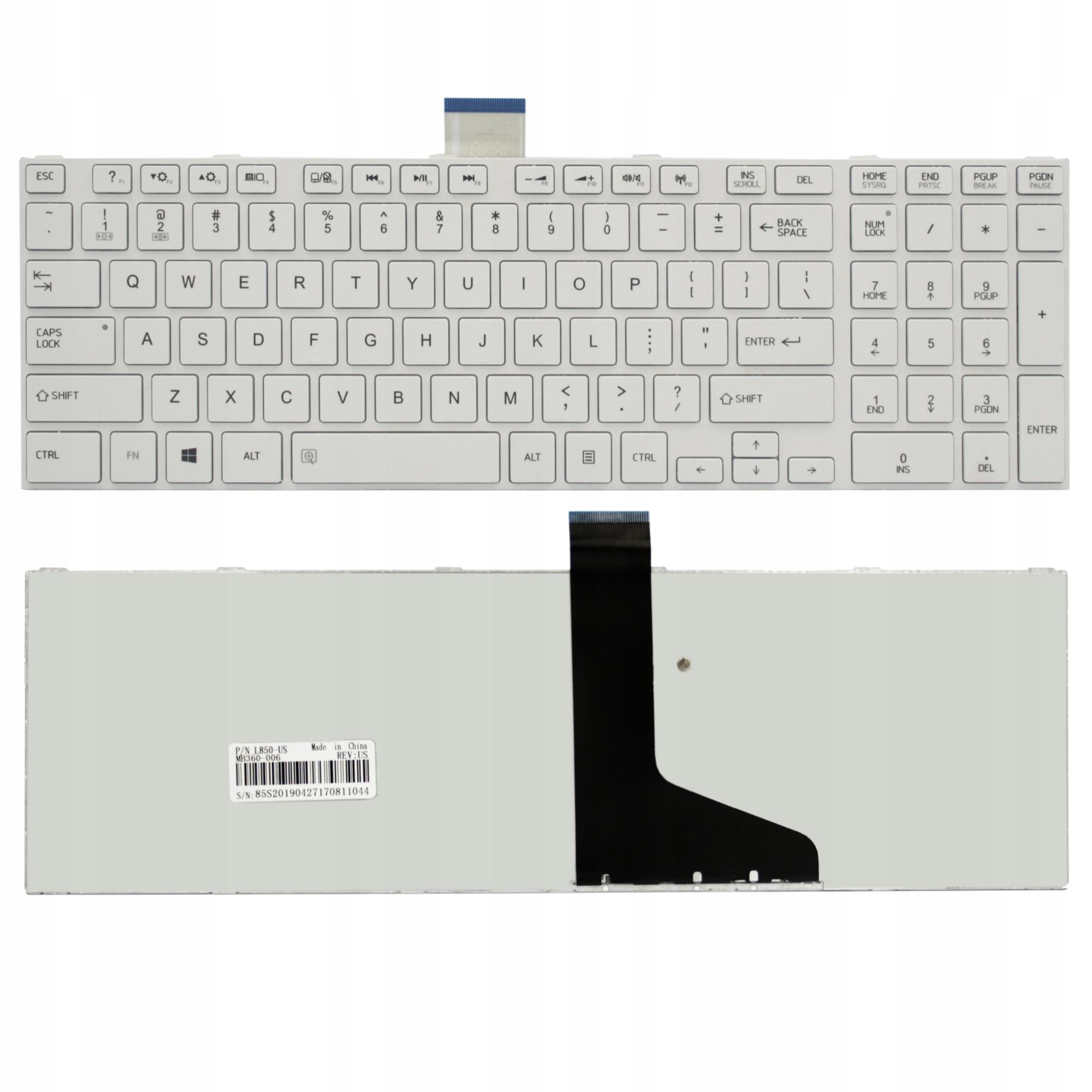 KLAWIATURA TOSHIBA C850 C855 C870D L850D L855 L870 - Klawiatury do laptopów
