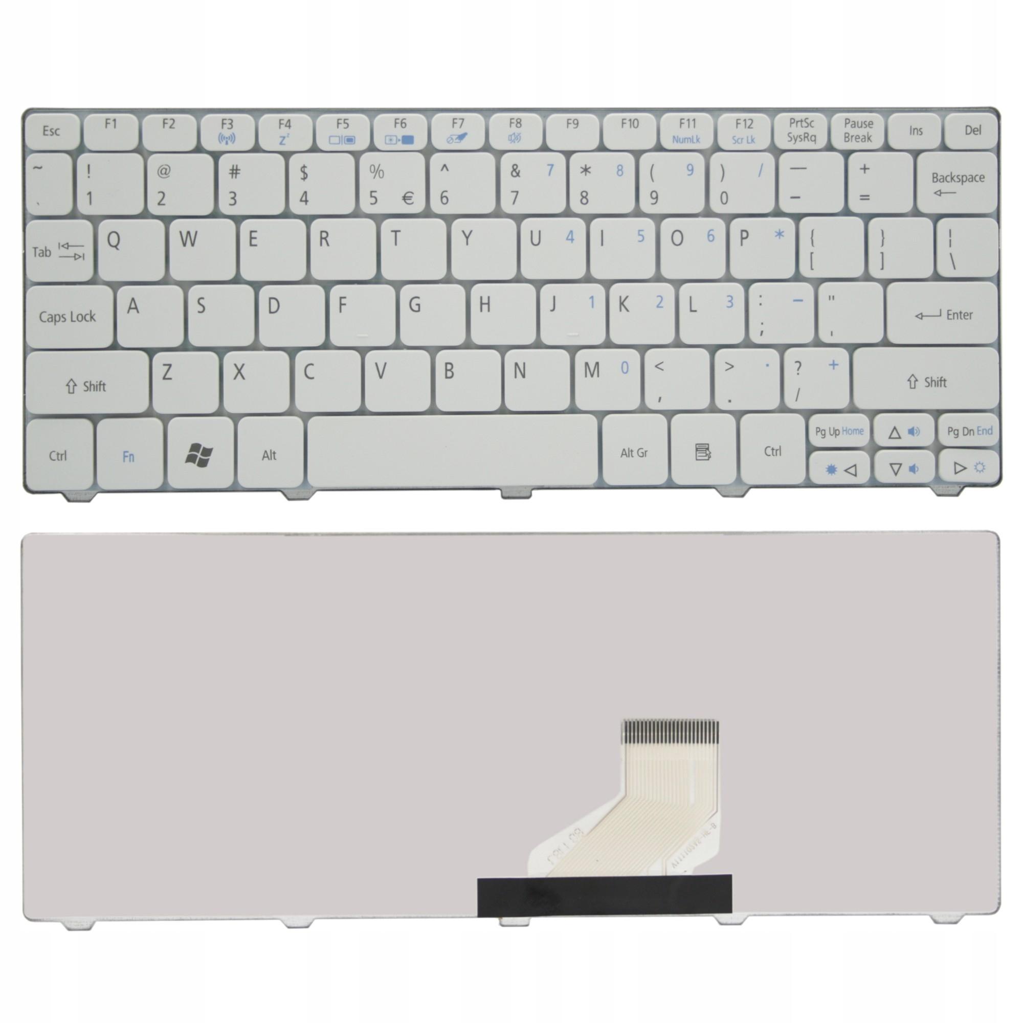 KLAWIATURA ACER ASPIRE ONE D255 D257 D260 D270 521 - Klawiatury do laptopów