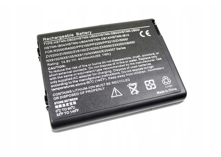 BATERIA AKUMULATOR HP PAVILION ZV5000 ZV5100 ZV5200 ZV6000 - Baterie do laptopów