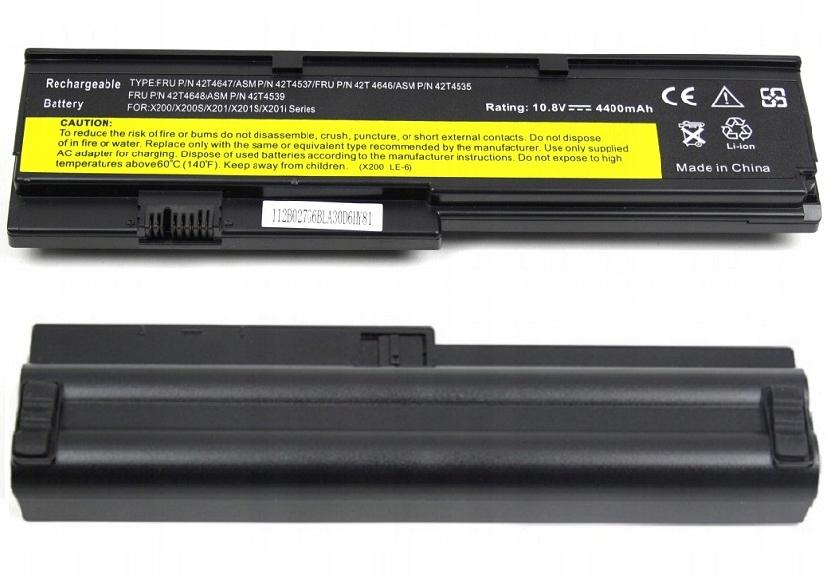 BATERIA AKUMULATOR LENOVO THINKPAD X200 X201 X200S X201S - Baterie do laptopów