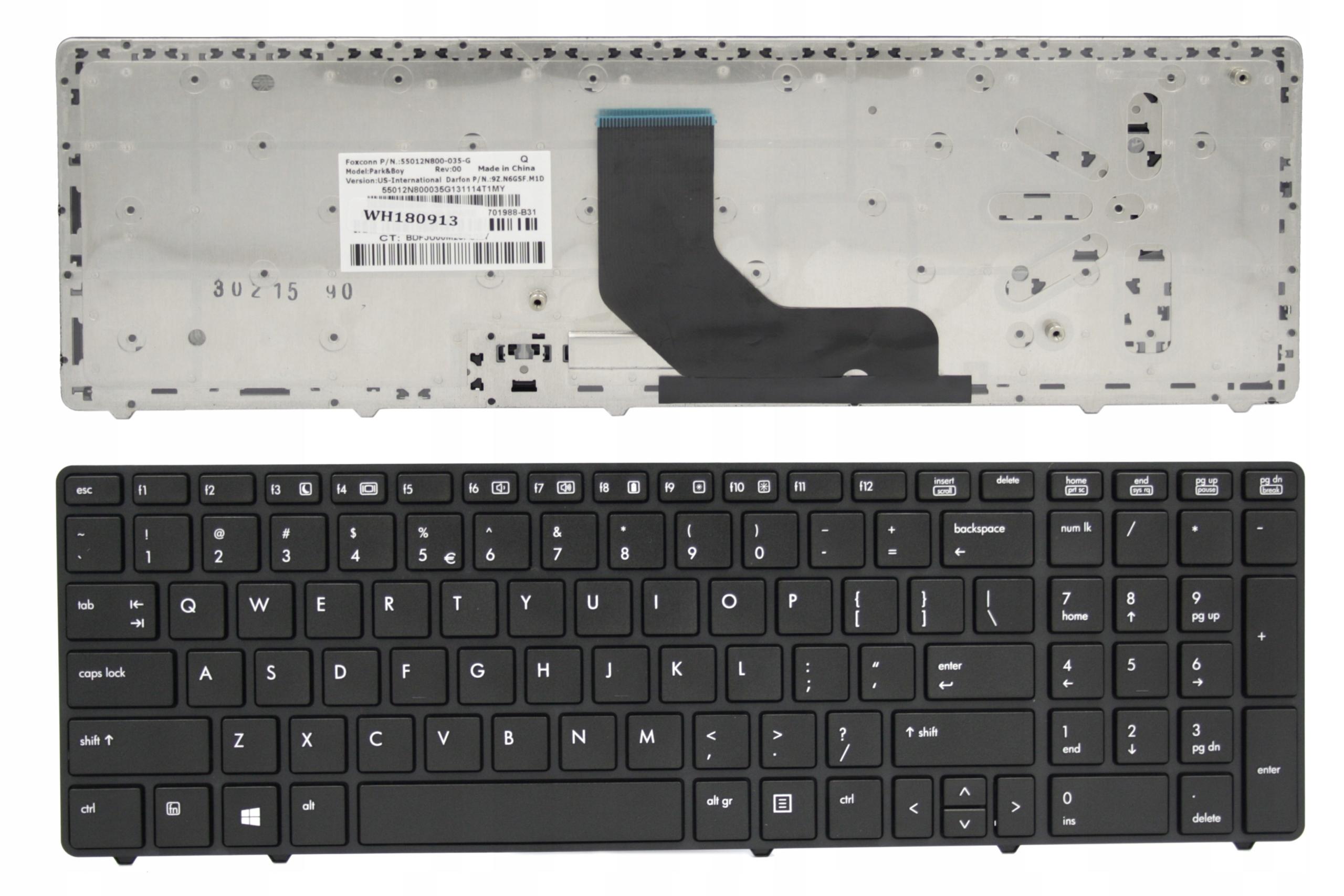 KLAWIATURA HP ELITEBOOK 6560 6570 8560P 8570P - Klawiatury do laptopów