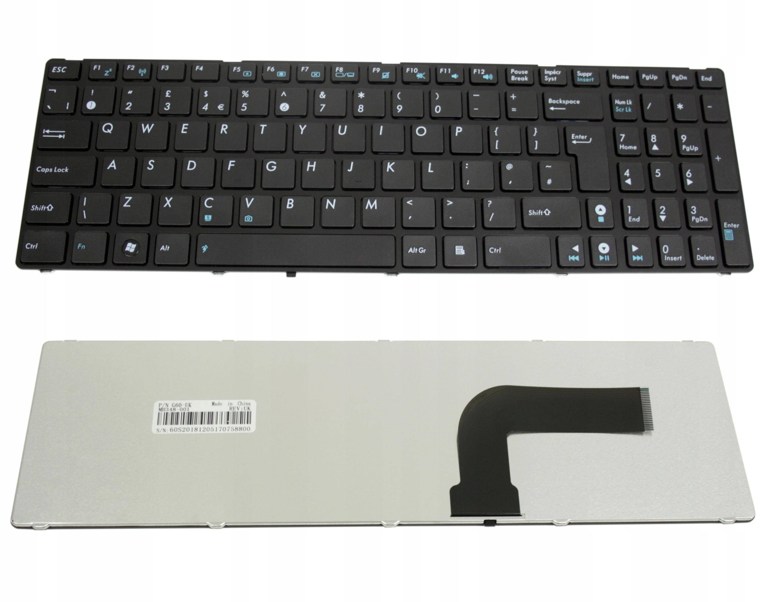 KLAWIATURA ASUS X54 X54C X54L X54XB X54H X54HY G60 - Klawiatury do laptopów