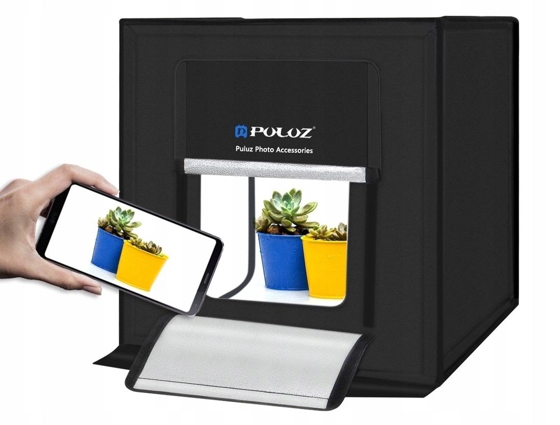 NAMIOT BEZCIENIOWY DUŻY STUDIO FOTO 60 CM LED 60W - Akcesoria fotograficzne