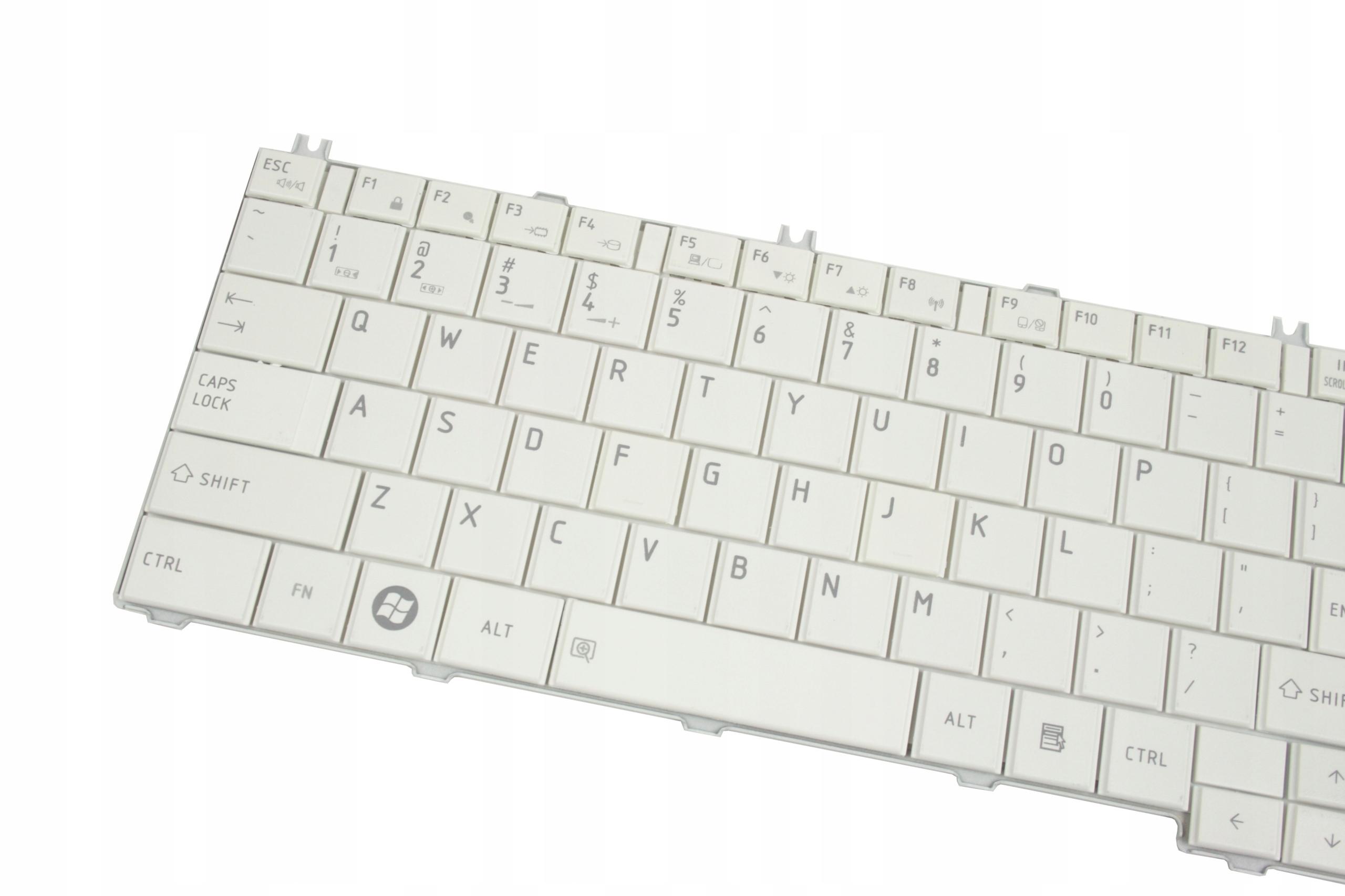 KLAWIATURA TOSHIBA SATELLITE C650 C660 L675 L750D L650 L770 V114302CS1 TN0GQ BIAŁA - Klawiatury do laptopów