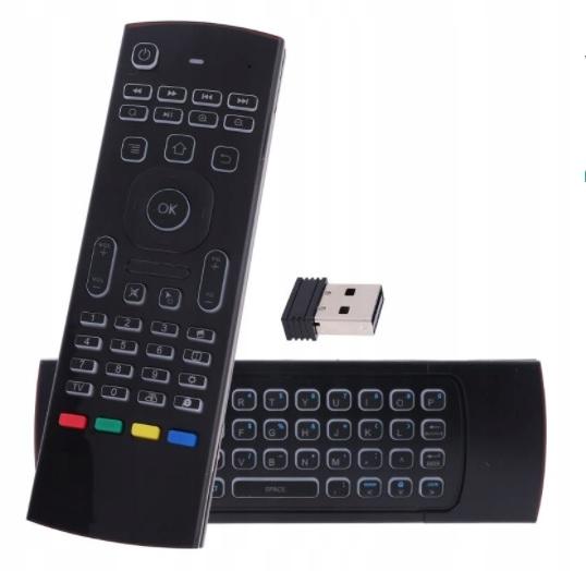MX3 AIR MOUSE PILOT KLAWIATURA MYSZ SMART TV PILOT Z PODŚWIETLENIEM - Przystawki Smart TV