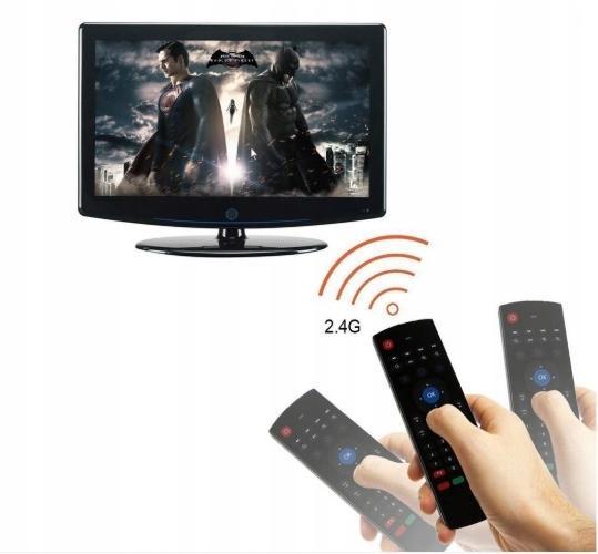PILOT AIR MOUSE MX3 KLAWIATURA MYSZ DO SMART TV ANDROID BOX ŻYROSKOP USB - Przystawki Smart TV